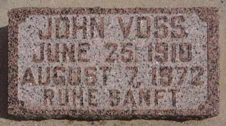 VOSS, JOHN - Hutchinson County, South Dakota | JOHN VOSS - South Dakota Gravestone Photos