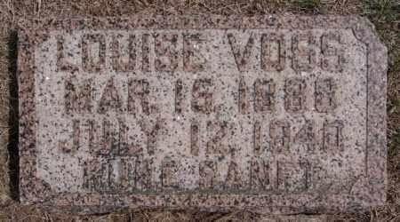 VOSS, LOUISE - Hutchinson County, South Dakota | LOUISE VOSS - South Dakota Gravestone Photos