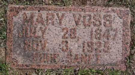 VOSS, MARY - Hutchinson County, South Dakota | MARY VOSS - South Dakota Gravestone Photos
