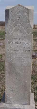 VOSS, MATHILDA - Hutchinson County, South Dakota | MATHILDA VOSS - South Dakota Gravestone Photos