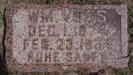 VOSS, WM - Hutchinson County, South Dakota   WM VOSS - South Dakota Gravestone Photos