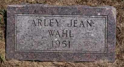 WAHL, ARLEY JEAN - Hutchinson County, South Dakota | ARLEY JEAN WAHL - South Dakota Gravestone Photos