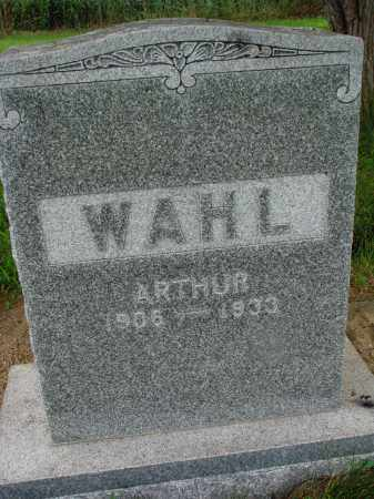 WAHL, ARTHUR - Hutchinson County, South Dakota   ARTHUR WAHL - South Dakota Gravestone Photos