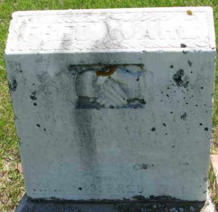 WAHL, FRIEDRICH - Hutchinson County, South Dakota | FRIEDRICH WAHL - South Dakota Gravestone Photos
