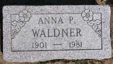 WALDNER, ANNA P - Hutchinson County, South Dakota | ANNA P WALDNER - South Dakota Gravestone Photos