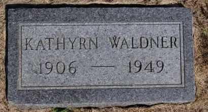 WALDNER, KATHRYN - Hutchinson County, South Dakota | KATHRYN WALDNER - South Dakota Gravestone Photos