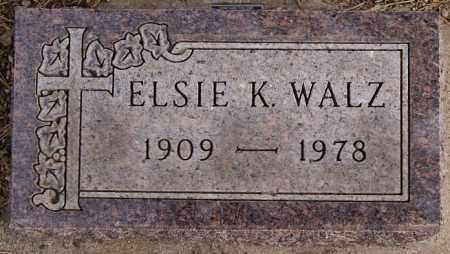 WALZ, ELSIE K - Hutchinson County, South Dakota | ELSIE K WALZ - South Dakota Gravestone Photos