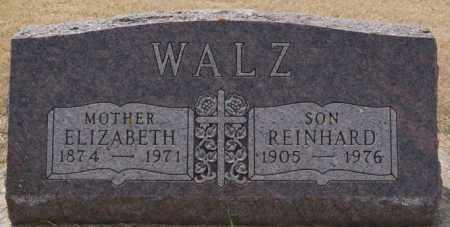 WALZ, ELIZABETH - Hutchinson County, South Dakota | ELIZABETH WALZ - South Dakota Gravestone Photos
