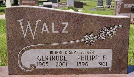 WALZ, GERTRUDE - Hutchinson County, South Dakota | GERTRUDE WALZ - South Dakota Gravestone Photos