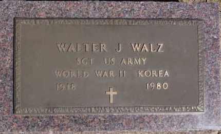 WALZ, WALTER J (WWII KOREA) - Hutchinson County, South Dakota | WALTER J (WWII KOREA) WALZ - South Dakota Gravestone Photos