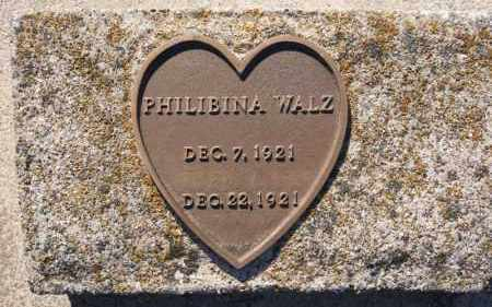 WALZ, PHILIBINA - Hutchinson County, South Dakota | PHILIBINA WALZ - South Dakota Gravestone Photos