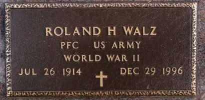 WALZ, ROLAND H (WWII) - Hutchinson County, South Dakota | ROLAND H (WWII) WALZ - South Dakota Gravestone Photos