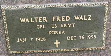 WALZ, WALTER FRED (MILITARY) - Hutchinson County, South Dakota | WALTER FRED (MILITARY) WALZ - South Dakota Gravestone Photos