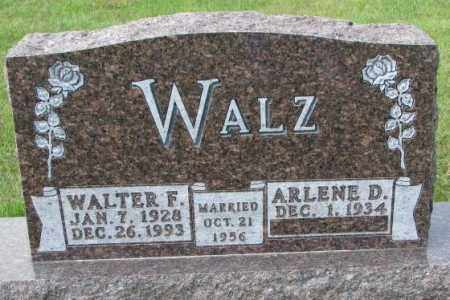 WALZ, WALTER F - Hutchinson County, South Dakota   WALTER F WALZ - South Dakota Gravestone Photos