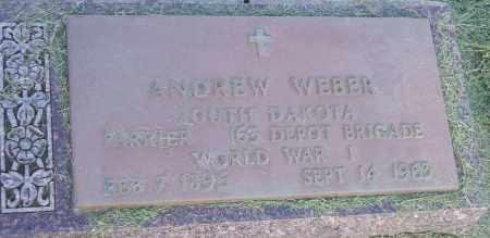 WEBER, ANDREW - Hutchinson County, South Dakota   ANDREW WEBER - South Dakota Gravestone Photos