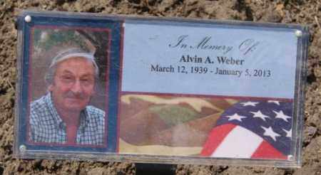 WEBER, ALVIN A - Hutchinson County, South Dakota   ALVIN A WEBER - South Dakota Gravestone Photos