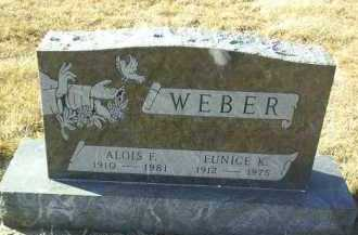 WEBER, ALOYS - Hutchinson County, South Dakota | ALOYS WEBER - South Dakota Gravestone Photos