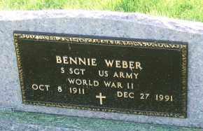 WEBER, BENNIE - Hutchinson County, South Dakota | BENNIE WEBER - South Dakota Gravestone Photos