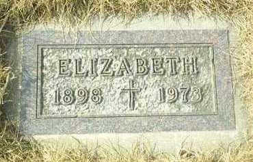 WEBER, ELIZABETH - Hutchinson County, South Dakota   ELIZABETH WEBER - South Dakota Gravestone Photos