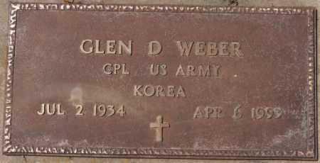 WEBER, GLEN D (KOREA) - Hutchinson County, South Dakota | GLEN D (KOREA) WEBER - South Dakota Gravestone Photos