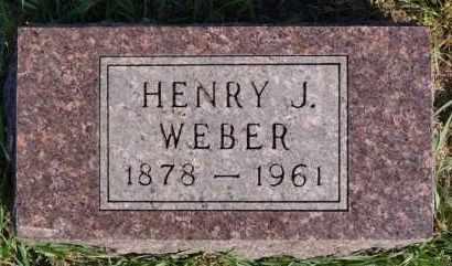 WEBER, HENRY J - Hutchinson County, South Dakota   HENRY J WEBER - South Dakota Gravestone Photos