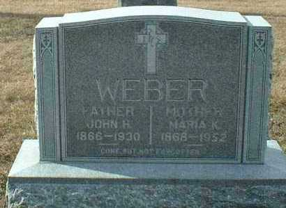 WEBER, JOHN - Hutchinson County, South Dakota | JOHN WEBER - South Dakota Gravestone Photos