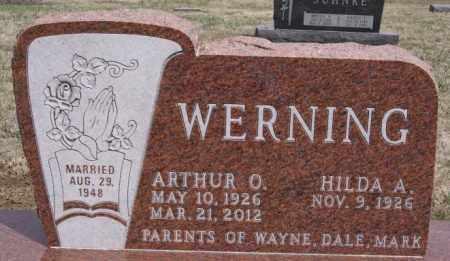 WERNING, ARTHUR O - Hutchinson County, South Dakota | ARTHUR O WERNING - South Dakota Gravestone Photos