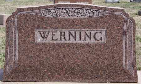 WERNING, FAMILY MARKER - Hutchinson County, South Dakota   FAMILY MARKER WERNING - South Dakota Gravestone Photos