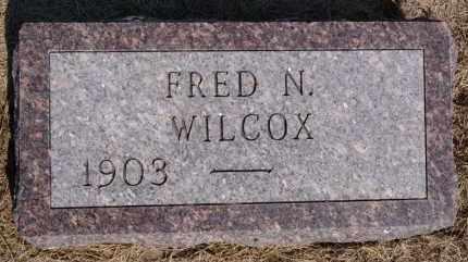 WILCOX, FRED N - Hutchinson County, South Dakota   FRED N WILCOX - South Dakota Gravestone Photos