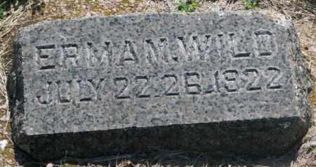 WILD, ERMA M. - Hutchinson County, South Dakota | ERMA M. WILD - South Dakota Gravestone Photos