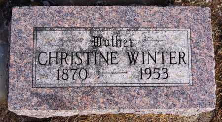 WINTER, CHRISTINE - Hutchinson County, South Dakota | CHRISTINE WINTER - South Dakota Gravestone Photos