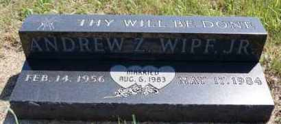 WIPF, ANDREW Z JR - Hutchinson County, South Dakota | ANDREW Z JR WIPF - South Dakota Gravestone Photos