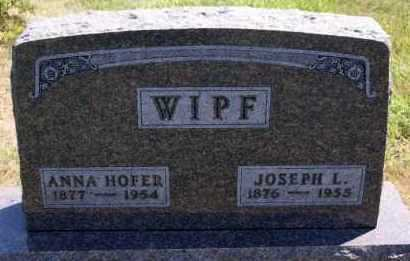 WIPF, JOSEPH L - Hutchinson County, South Dakota | JOSEPH L WIPF - South Dakota Gravestone Photos