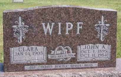 WIPF, JOHN A - Hutchinson County, South Dakota | JOHN A WIPF - South Dakota Gravestone Photos