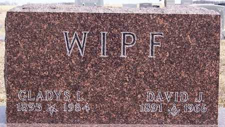WIPF, DAVID J - Hutchinson County, South Dakota | DAVID J WIPF - South Dakota Gravestone Photos