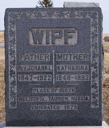 WIPF, KATHARINA - Hutchinson County, South Dakota | KATHARINA WIPF - South Dakota Gravestone Photos