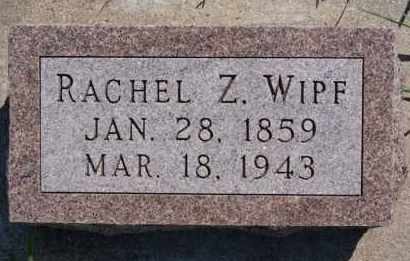 WIPF, RACHEL Z - Hutchinson County, South Dakota | RACHEL Z WIPF - South Dakota Gravestone Photos