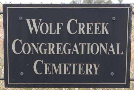 *WOLF CREEK CONGREGATIONAL, SIGN - Hutchinson County, South Dakota | SIGN *WOLF CREEK CONGREGATIONAL - South Dakota Gravestone Photos