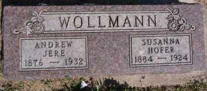 WOLLMANN, ANDREW JERE - Hutchinson County, South Dakota | ANDREW JERE WOLLMANN - South Dakota Gravestone Photos