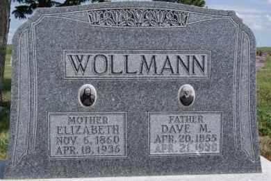 WOLLMANN, ELIZABETH - Hutchinson County, South Dakota | ELIZABETH WOLLMANN - South Dakota Gravestone Photos