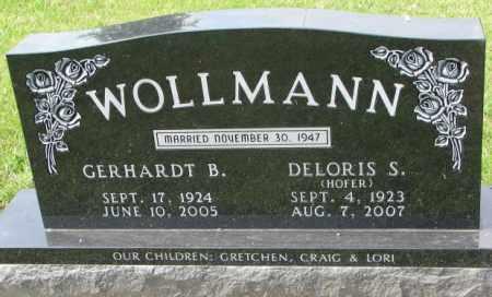WOLLMANN, GERHARDT B. - Hutchinson County, South Dakota | GERHARDT B. WOLLMANN - South Dakota Gravestone Photos