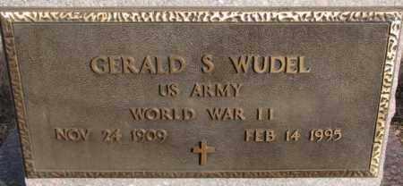 WUDEL, GERALD S. (WW II) - Hutchinson County, South Dakota   GERALD S. (WW II) WUDEL - South Dakota Gravestone Photos