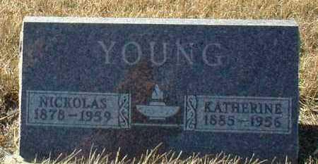 YOUNG, KATHERINE - Hutchinson County, South Dakota | KATHERINE YOUNG - South Dakota Gravestone Photos