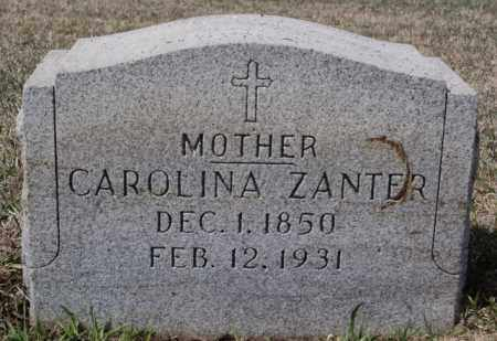 ZANTER, CAROLINA - Hutchinson County, South Dakota | CAROLINA ZANTER - South Dakota Gravestone Photos