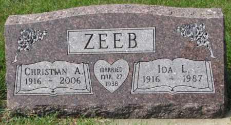 ZEEB, CHRISTIAN - Hutchinson County, South Dakota   CHRISTIAN ZEEB - South Dakota Gravestone Photos