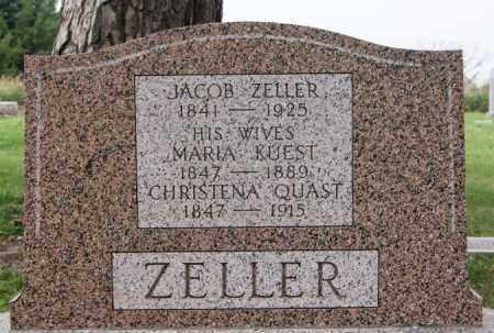 ZELLER, JACOB - Hutchinson County, South Dakota | JACOB ZELLER - South Dakota Gravestone Photos