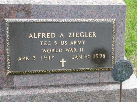 ZIEGLER, ALFRED A (WWII) - Hutchinson County, South Dakota | ALFRED A (WWII) ZIEGLER - South Dakota Gravestone Photos