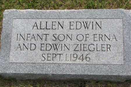 ZIEGLER, ALLEN EDWIN - Hutchinson County, South Dakota | ALLEN EDWIN ZIEGLER - South Dakota Gravestone Photos
