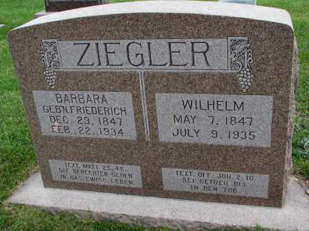 ZIEGLER, BARBARA - Hutchinson County, South Dakota | BARBARA ZIEGLER - South Dakota Gravestone Photos