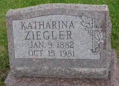 ZIEGLER, KATHARINA - Hutchinson County, South Dakota | KATHARINA ZIEGLER - South Dakota Gravestone Photos